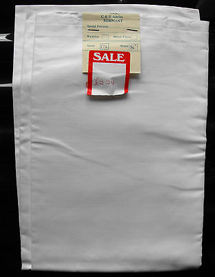 "White lining fabric Vintage cotton material UNUSED 54"" square SHOP SOILED"